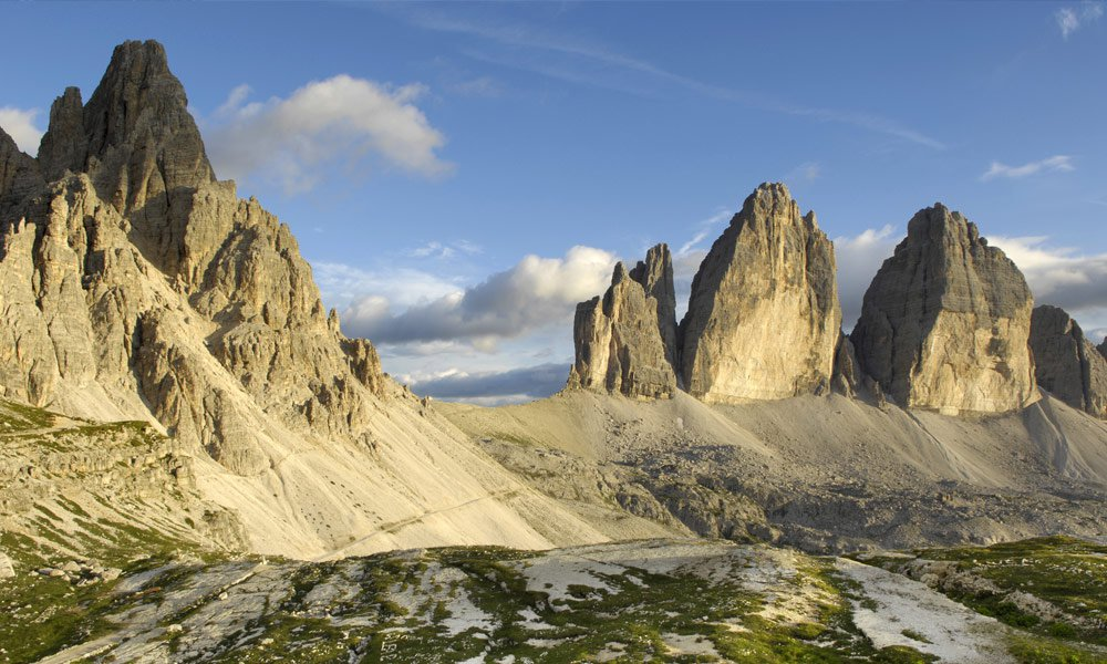 Holiday in the Dolomites: A mountain presents itself