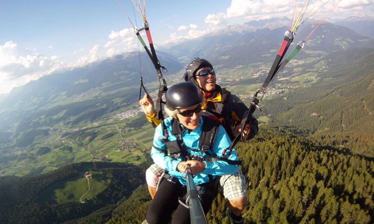 Paragliding and Zipline